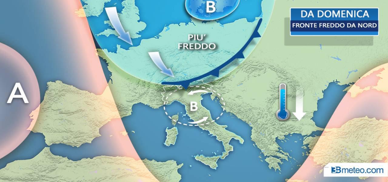 3bmeteo.com - ondata di aria fredda