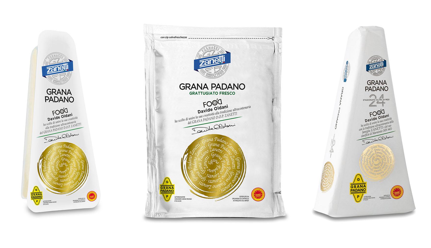 Zanetti: nuova linea Grana Padano DOP firmata Davide Oldani