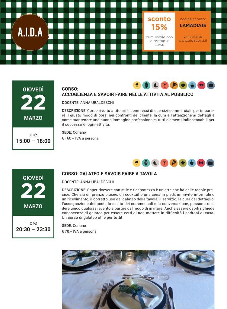 Galateo e savoir faire: corsi 2018