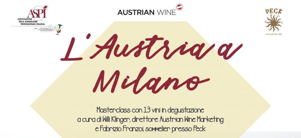 Austrian a Milano con austrian wine