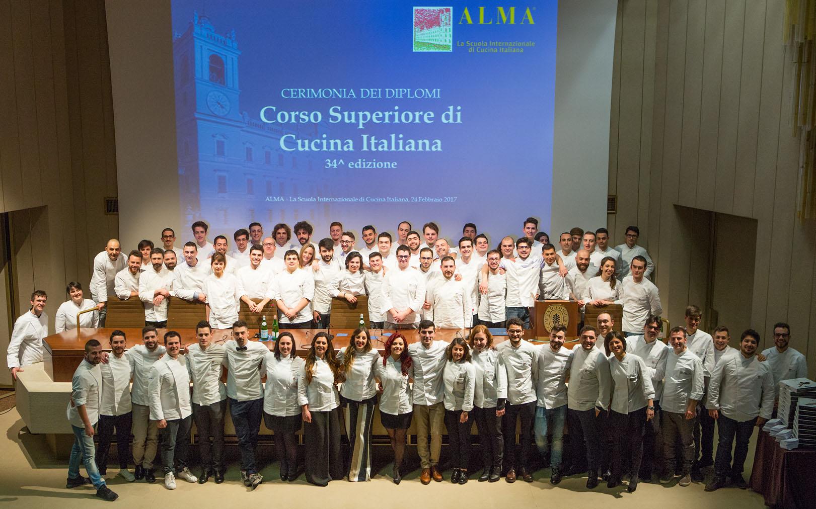 Alma: 77 studenti superano lesame di 26 chef stellati conquistando