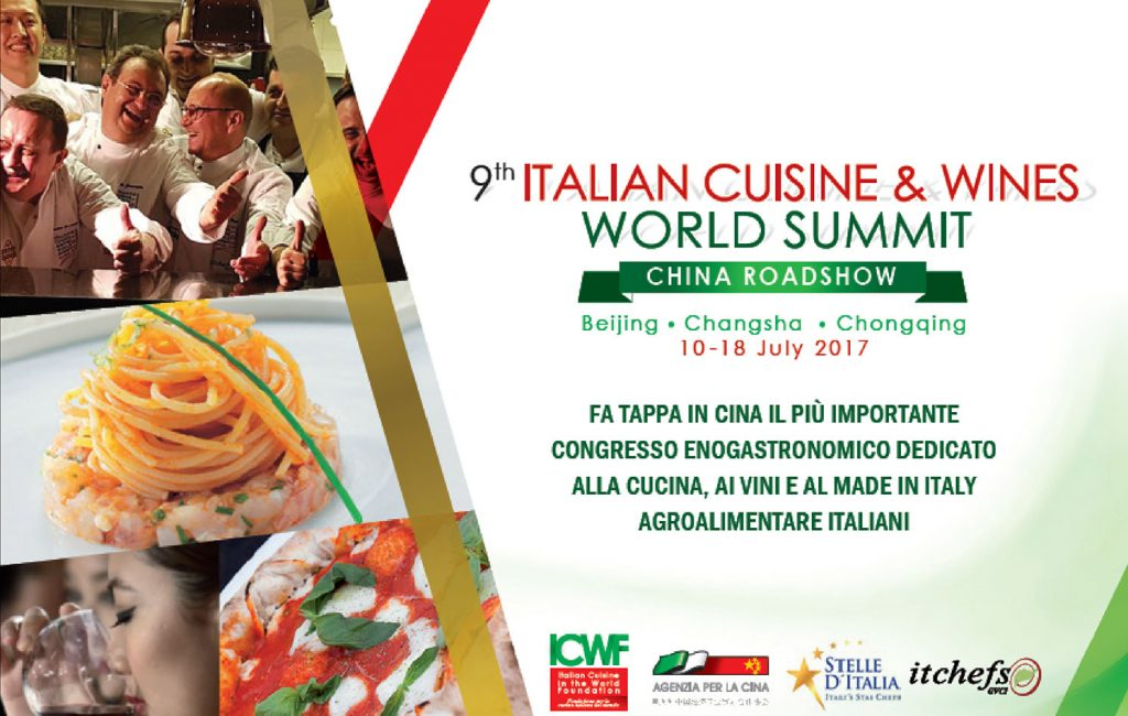 Il 9° Italian Cuisine World Summit fa tappa in Cina