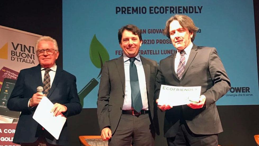 Premio Ecofriendly al Consorzio Prosecco Doc