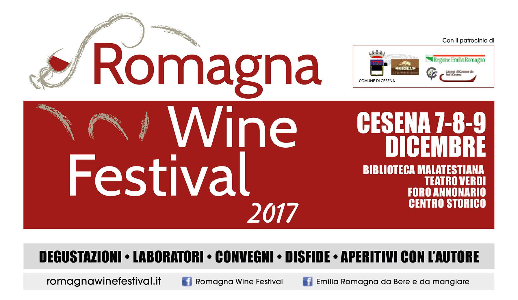 Romagna Wine Festival a Cesena dal 7 al 9 dicembre