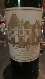 vino Château Haut-Brion 2001