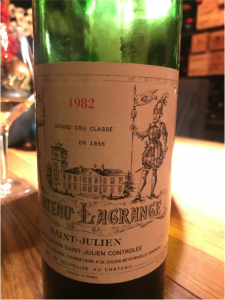 vino Château Lagrange 1982