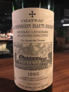 vino chateau la maison haut brion 1995