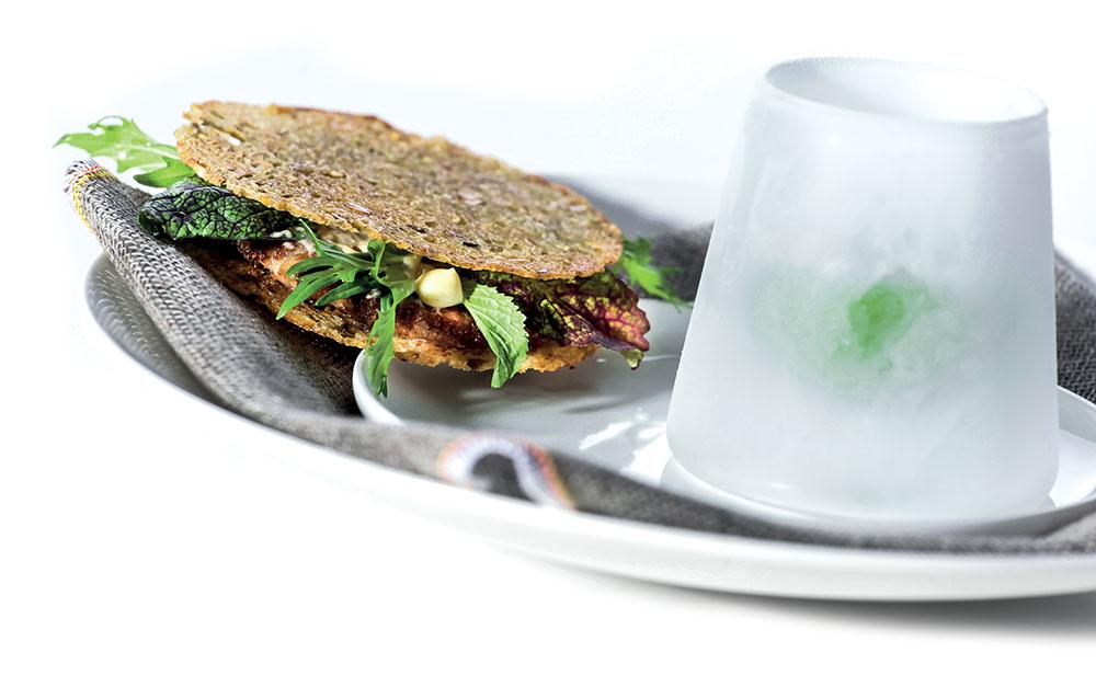 Chef Niederkofler ricetta sandwich di testina