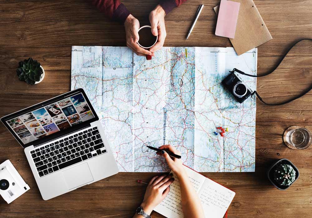 Cartina viaggi