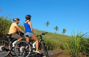 le Mauritius in mountain bike