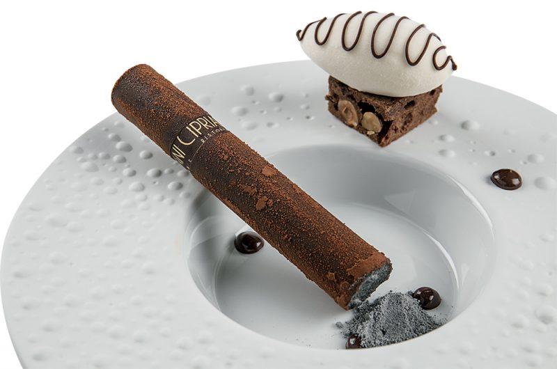 sigaro con whisky affumicato e cioccolato