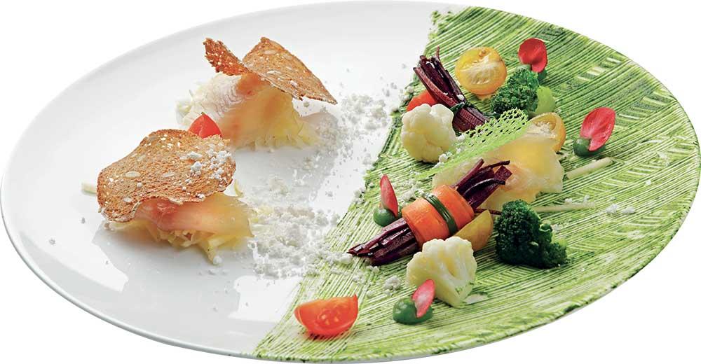 filetto di salmerino affumicato con insalata di finocchi