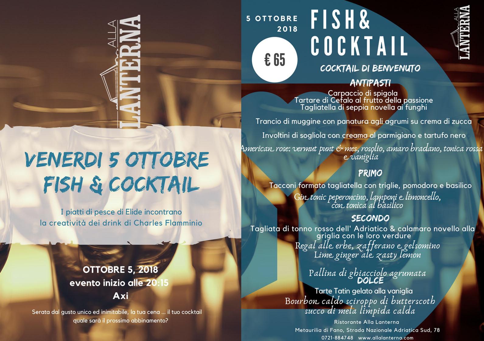 Fish & Cocktail al ristorante Alla Lanterna di Fano