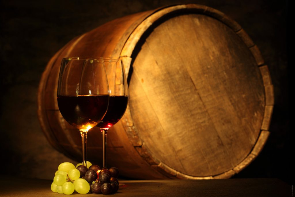 botte con vino