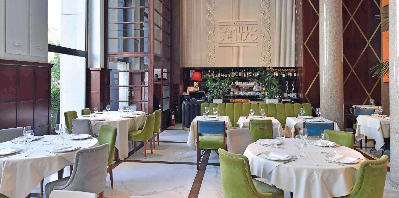 Il ristorante Camillo Benso a Milano
