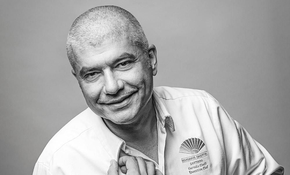Chef Germán Ghelfi del ristorante italiano Senso a Santiago del Cile - presso Hotel Mandarin Oriental