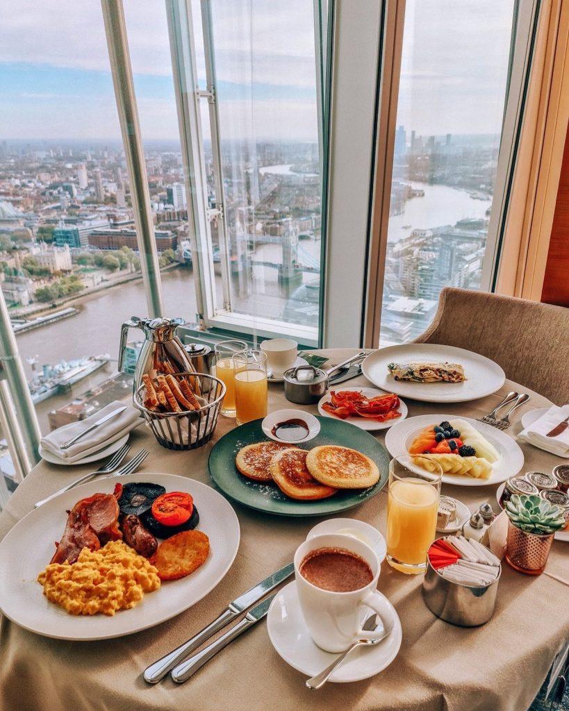 Panorama dal ristorante Ting sullo skyline di Londra
