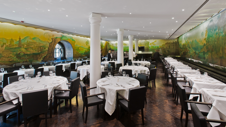 Il murales di Whistler nel Rex Whistler Restaurant - ristorante di Alfio Laudani