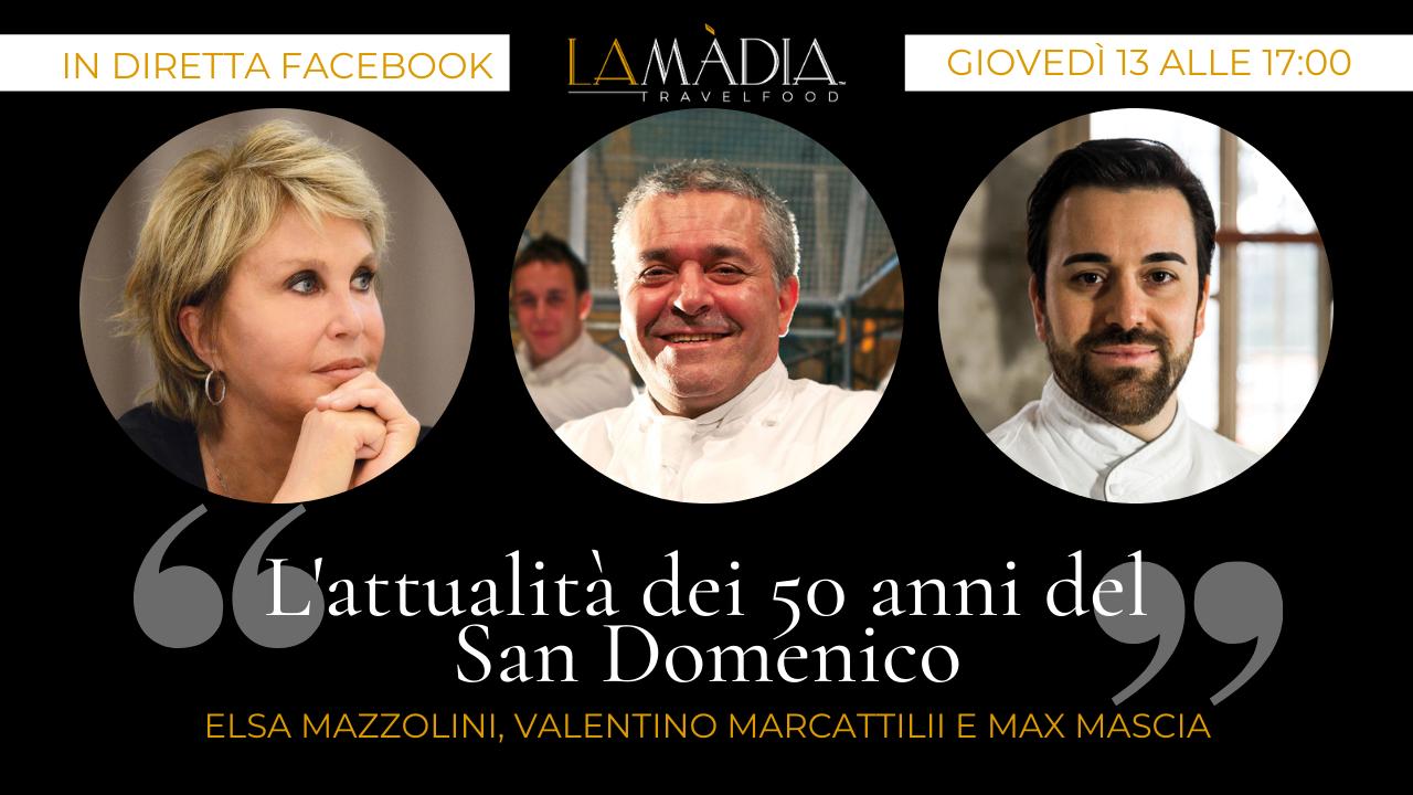 L'attualità dei 50 anni del San Domenico: una diretta di Elsa Mazzolini con Valentino Marcattilii e Max Mascia