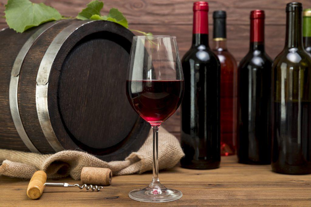 Bottiglie di vino invendute