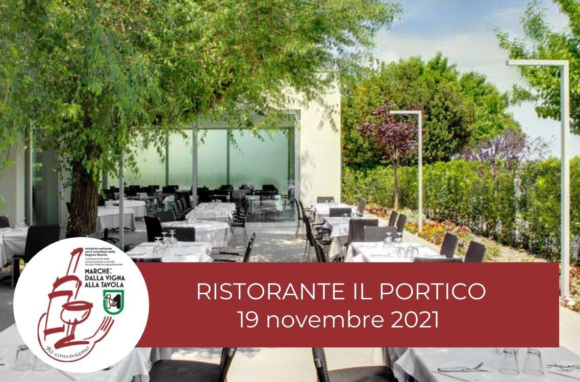 Serata di degustazione al Ristorante-Pizzeria Il Portico di Fano, venerdì 19 Novembre 2021