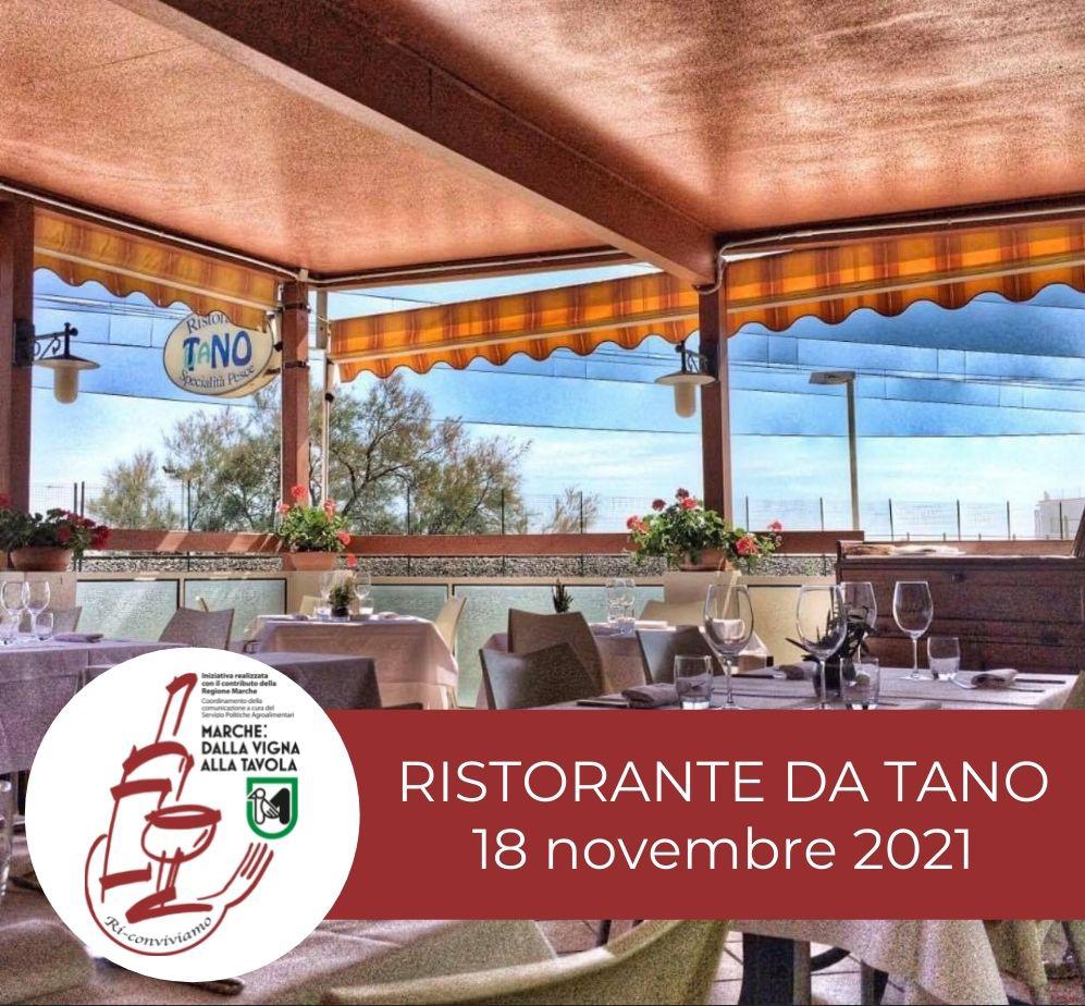 Serata di degustazione al Ristorante Da Tano di Fano, giovedì 18 novembre 2021