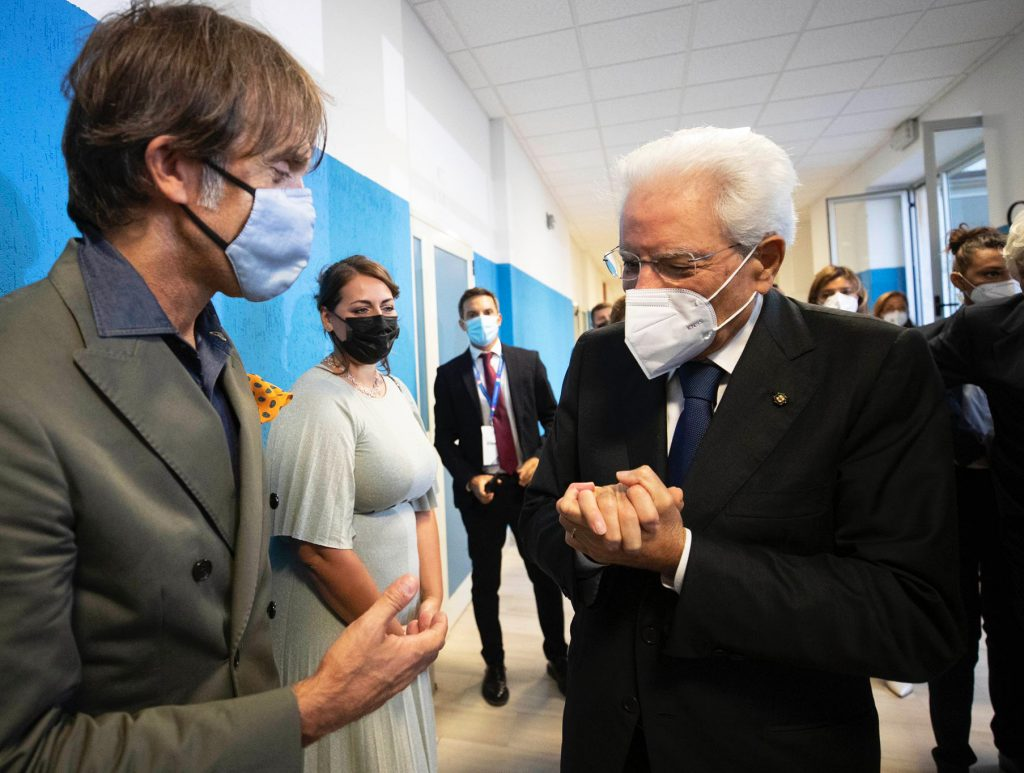Davide Oldani e Sergio Mattarella cerimonia inaugurazione dell'anno accademico