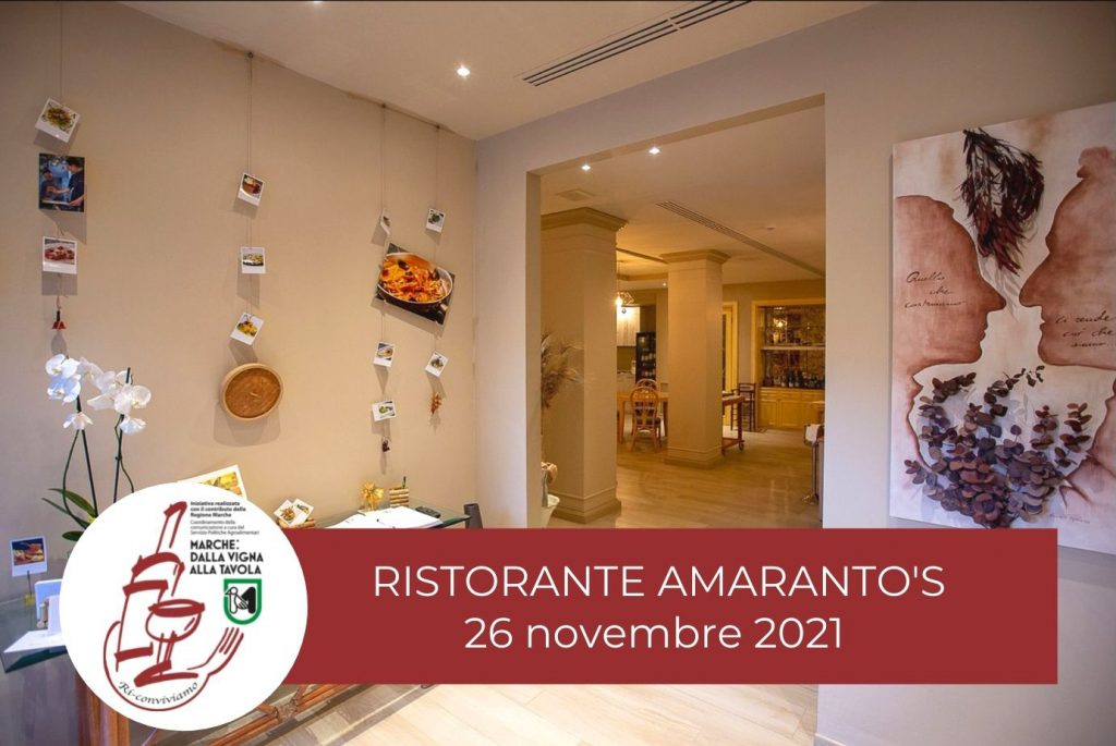 Degustazione marchigiana al Ristorante Amarantos di Porto Recanati